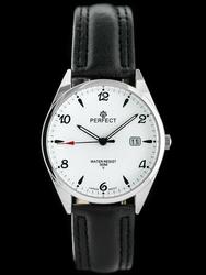 Zegarek na pasku czarnym meski PERFECT C530T - DŁUGI PASEK zp214a