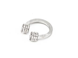 Pierścionek cubes silver - SILVER