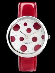 Czerwony zegarek JORDAN KERR - KULTOWA KROPA zj717a -antyalergiczny