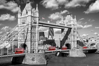 Tower Bridge Buses - plakat