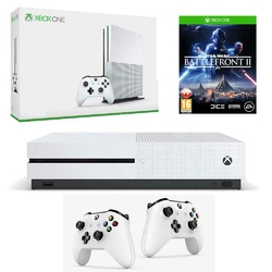 Konsola Xbox One S 1TB + 2 Pady + Star Wars Battlefront 2