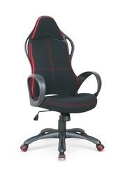 Fotel gabinetowy Helix tkanina czarno-czerwony