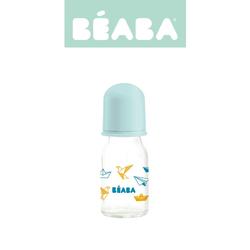 Beaba Butelka szklana 110 ml Origami blue