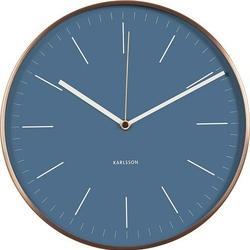 Zegar ścienny Minimal miedziany niebieski