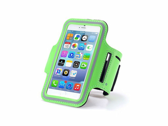 Etui na ramię sportowe do biegania na telefon do 5.5 cala zielone - Zielony