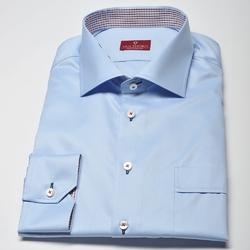 Elegancka błękitna koszula męska VAN THORN z włoskim kołnierzykiem - NORMAL FIT 43