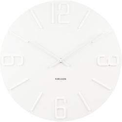Zegar ścienny Relief Karlsson biały KA5462WH