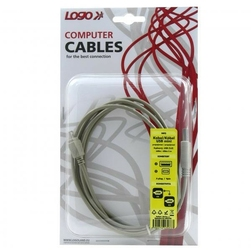 Kabel USB 2.0, USB A  M- 4 pin M, 2m, czarny, Logo, blistr
