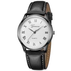 Zegarek damski męski GENEVA rzymskie cyfry CZARNY