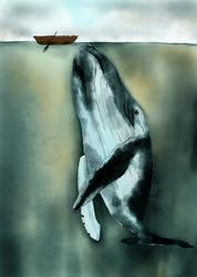 Wielorybek - plakat Wymiar do wyboru: 61x91,5 cm