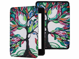 Etui Alogy Smart Case Kindle Paperwhite 4 Kolorowe drzewko + Szkło - Kolorowe drzewko