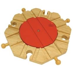 Drewniana obrotnica na 8 torów