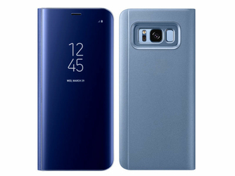 Etui Clear View cover Samsung Galaxy Note 8 Niebieskie + Folia - Niebieski
