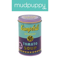 Mudpuppy Kredki świecowe Andy Warhol 18 sztuk