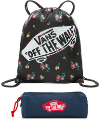 Zestaw Worek Vans Benched Bag Satin Floral + Piórnik Vans - VN000SUFUV3