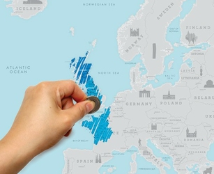 Mapka zdrapka – Europa