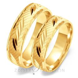 Obrączki ślubne Złoty Skorpion – wzór Au-O124