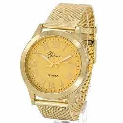 Zegarek damski GENEVA klasyczny mesh ZŁOTY - złoty