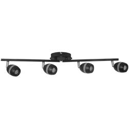 Lampa czarna, sufitowa, czteropunktowa - 4 x LED DeMarkt Techno 704023204