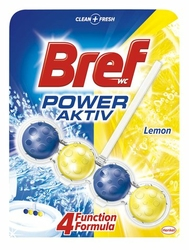 Bref Power Aktive Lemon, zawieszka do toalety, 50g