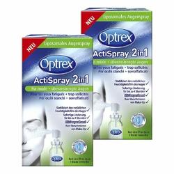 2x Optrex ActiSpray 2in1 für müde  überanstrengte Augen  Sagrota