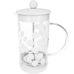 Kawiarka french press Dot Dot 1 Litr ZAK Designs biała 1313-880