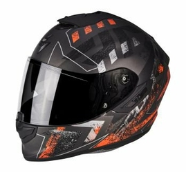 SCORPION KASK EXO-1400 AIR PICTA MAT BK-NE RED