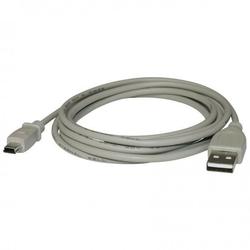 Kabel USB 2.0, USB A  M- USB mini 5pin M, 3m, czarny