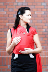 Chusta do noszenia dzieci, elastyczna, rozmiar M standardowy - 5 metrów, kolor rubinowy
