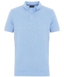 Męska koszulka polo Profuomo w kolorze błękitnego melanżu XL