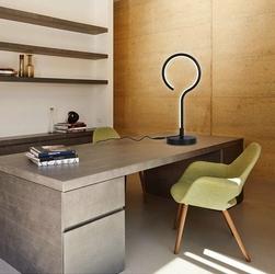 Altavola Design :: Lampa stołowa Ledowe Okręgi no.1 in 4k czarna - barwa dzienna