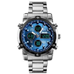 Zegarek ELEGANCKI bransoleta SKMEI 1389 blue - silverblue