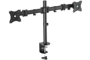 Digitus Stojak biurkowy podwójny z zaciskiem, 2xLCD, max. 27, max. obciążenie 8kg,uchylno-obrotowy 360°