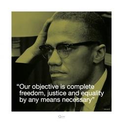 Malcolm x życiowe cytaty - reprodukcja
