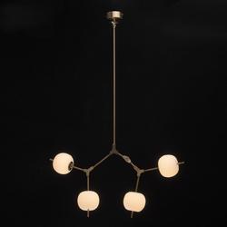 Oryginalna lampa wisząca białe kule led auksis de markt hi-tech 722010404