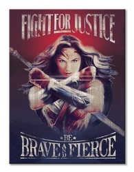 Wonder woman fight for justice - obraz na płótnie