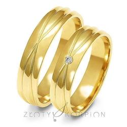Obrączki ślubne złoty skorpion – wzór au-a143