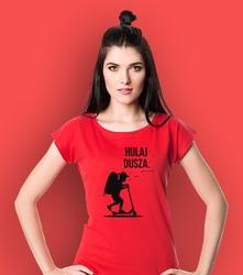 Hulaj dusza t-shirt damski czerwony xs
