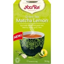 Herbatka zielona z cytryną i matchą bio 17 x 1,8 g - yogi tea