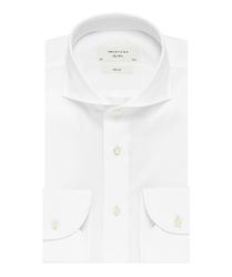 Elegancka biała koszula męska profuomo slim fit z egipskiej bawełny giza 43