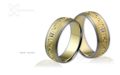 Obrączki ślubne - wzór au-529