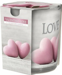 Bispol, sn72s, Świeca zapachowa w szkle, Valentine Love, 1 sztuka