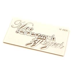 Scrapowy napis - Moc serdecznych życzeń