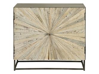 Drewniana komoda santana w stylu loftowym  wys. 80 cm
