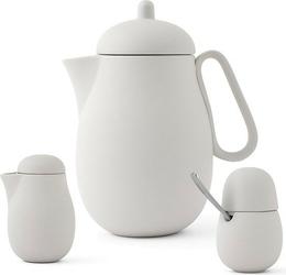 Zestaw do herbaty nina 3 el. piaskowa szarość