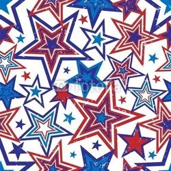 Naklejka samoprzylepna ilustracja gwiazdy patriotyczne