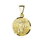 Srebrny pozłacany medalik pr.925 święty krzysztof - żółte złoto