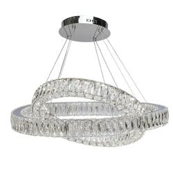 Podwójna, kryształowa lampa wisząca chiaro crystal 498012202