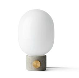 Lampa stołowa JWDA betonowa podstawa z mosiężnym włącznikiem
