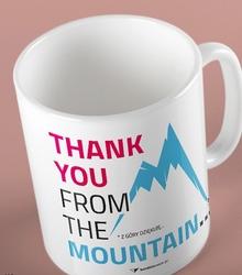 Thank you mountain kubek biały universal